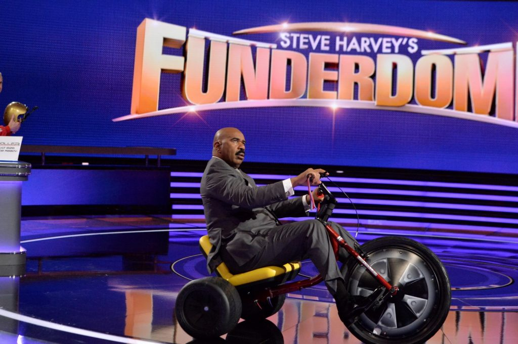 STEVE HARVEY rides the High Roller