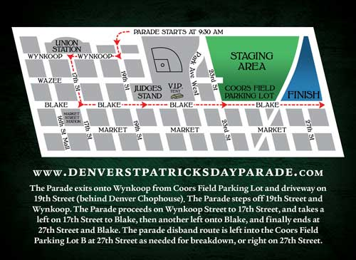 Denver St Pat's Parade Route