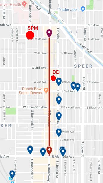 Broadway Halloween Parade Map
