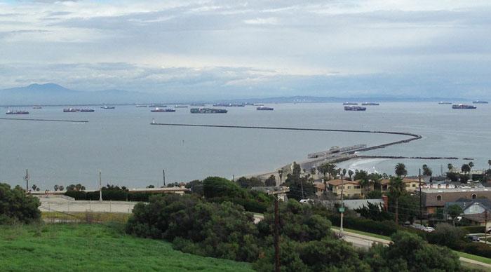 Ships in Long Beach