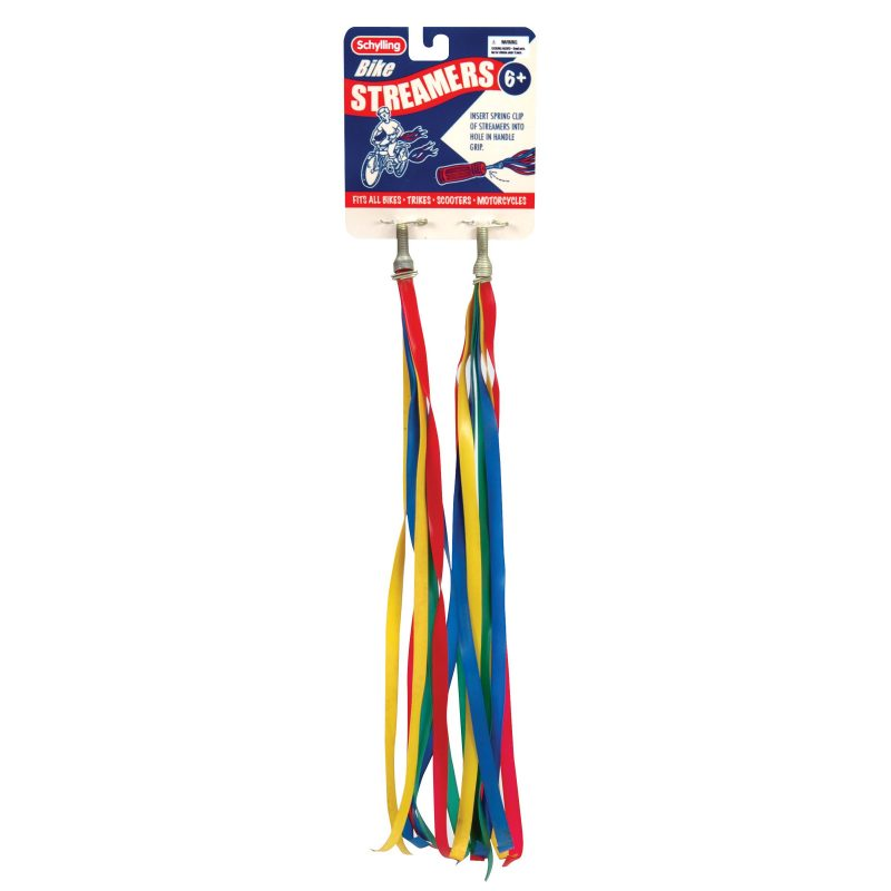 Multi color bike streamers